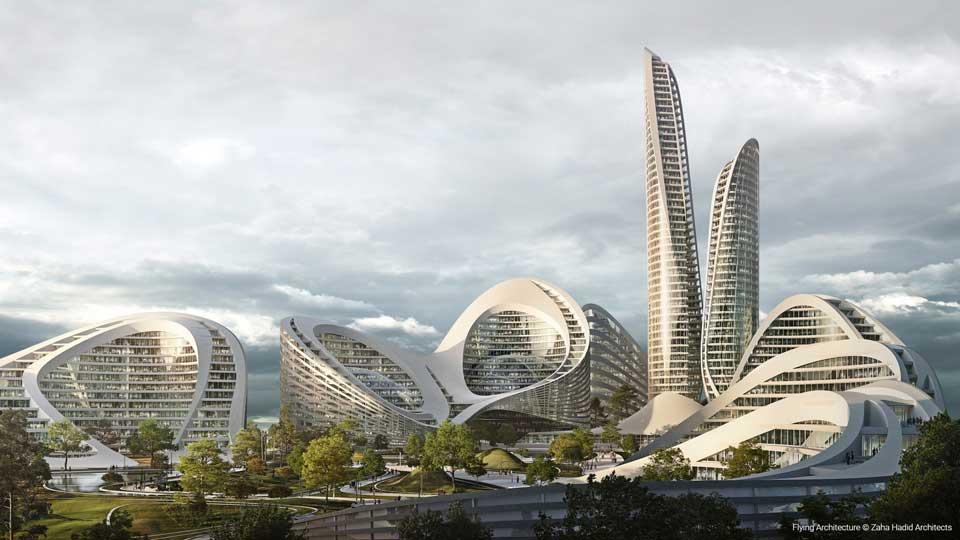 Flying Architecture - Smart City by Zaha Hadid Architects
